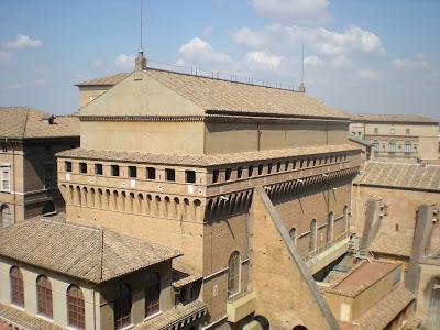 Sistine Chapel exterior Vatican