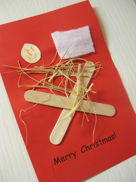 Christmas Card, Popsicle Sticks
