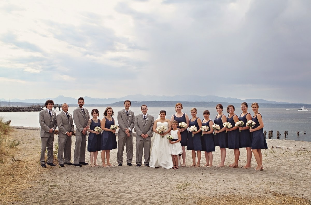Mixed wedding party - groom's people - Patricia Stimac, Seattle Wedding Officiant