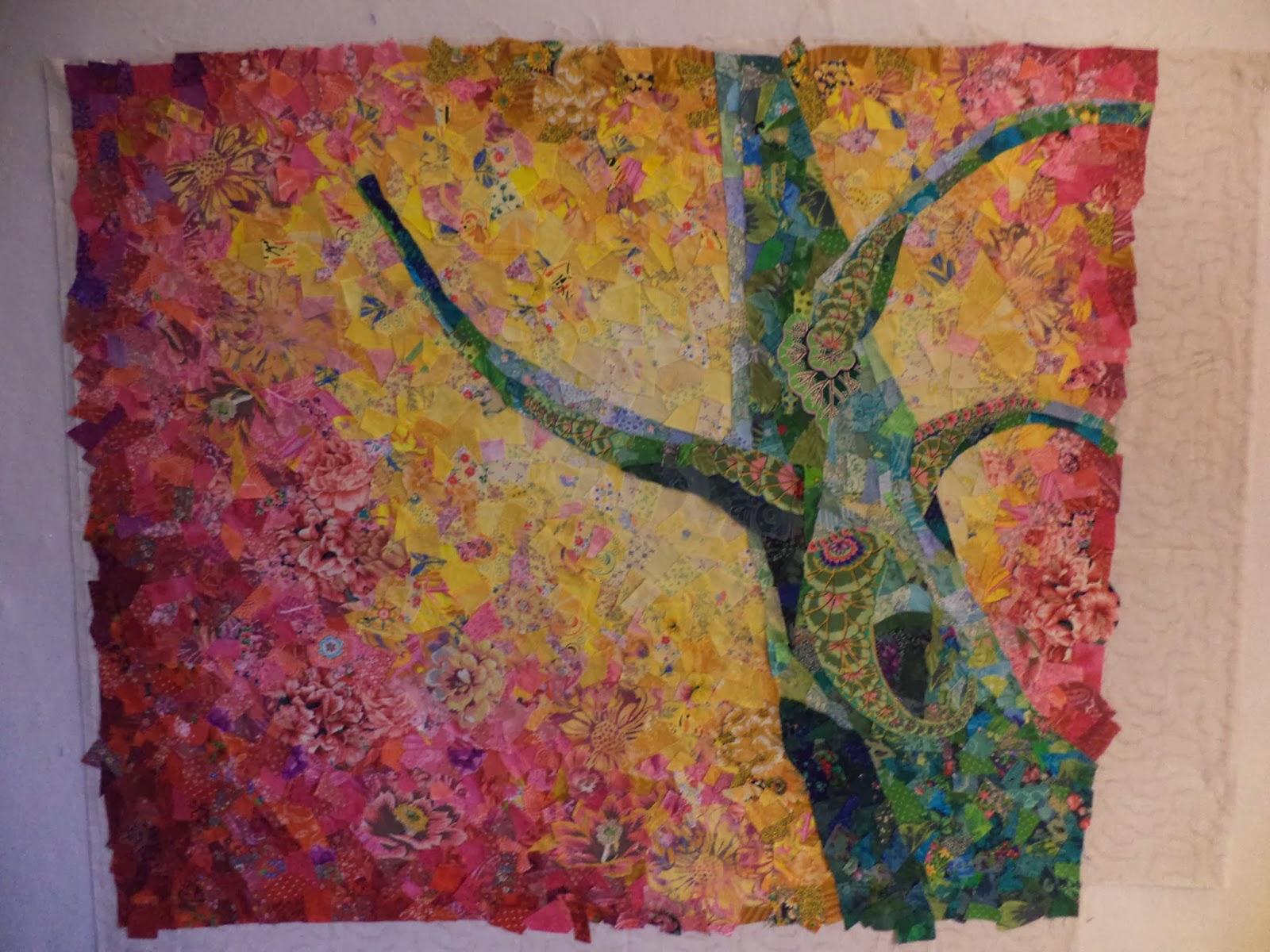 Tree art quilt