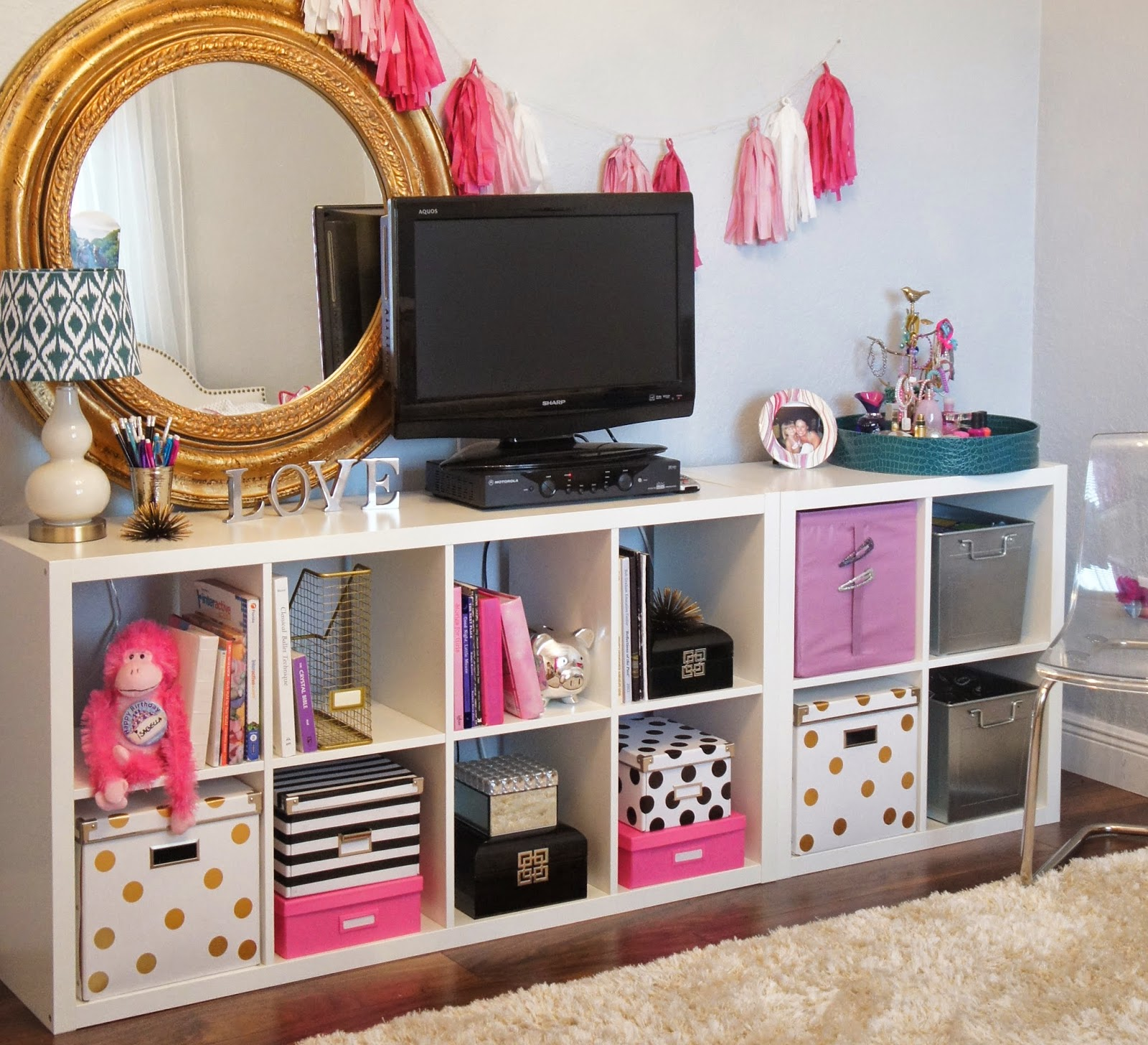 The cuban in my coffee diy kate spade inspired ikea for Organized kids rooms