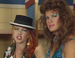 WWF (WWE) WRESTLEMANIA 1: Cyndi Lauper and Wendy Richter
