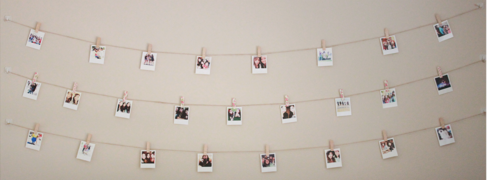 String Lights Polaroid : DIY: Polaroid Wall With String Lights Simple Stylings