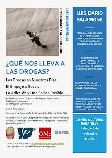 Conferencia Toxicomanía y alcoholismo