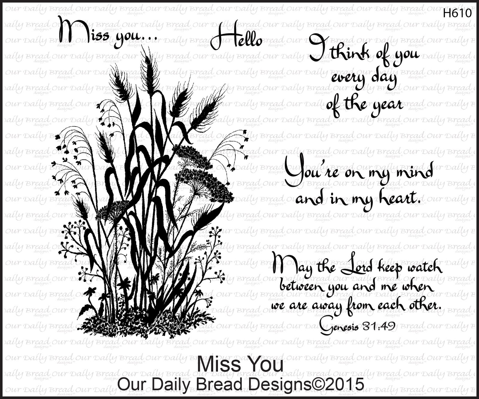 Stamps - Our Daily Bread Designs Miss You