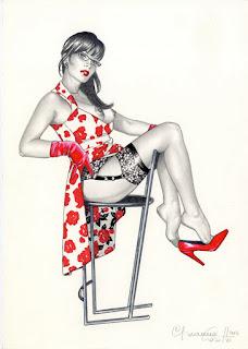 Ilustraciones de mujeres dibujos artisticos