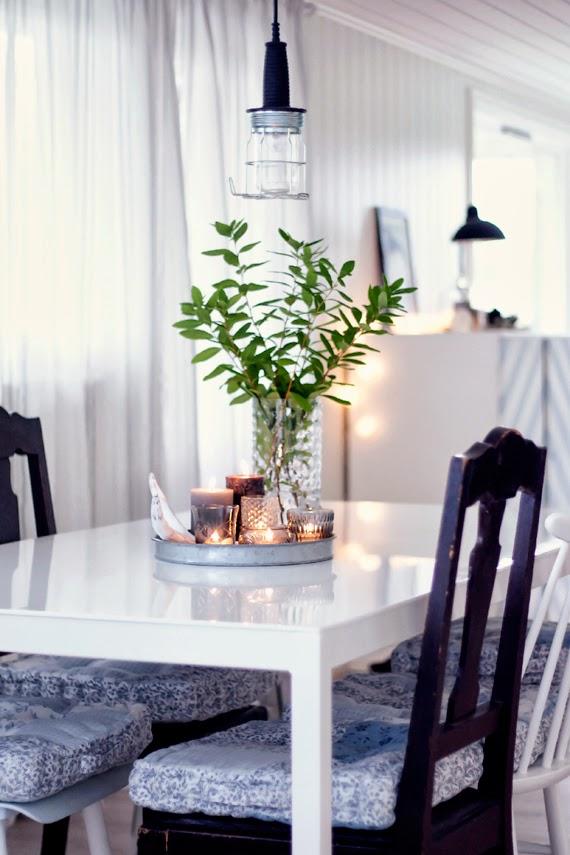 Un centro de mesa de comedor muy calido | Decorar tu casa es ...