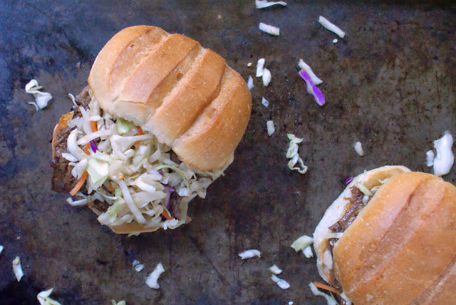 Sweet Korean BBQ Sandwiches with Spicy Asian Slaw