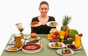 makanan yang disarankan dan yang tidak disarankan