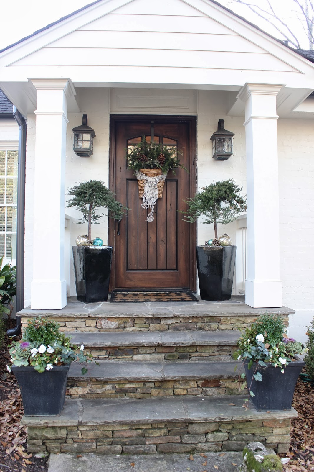 Porch columns coaches and front porches on pinterest for Front door patio ideas