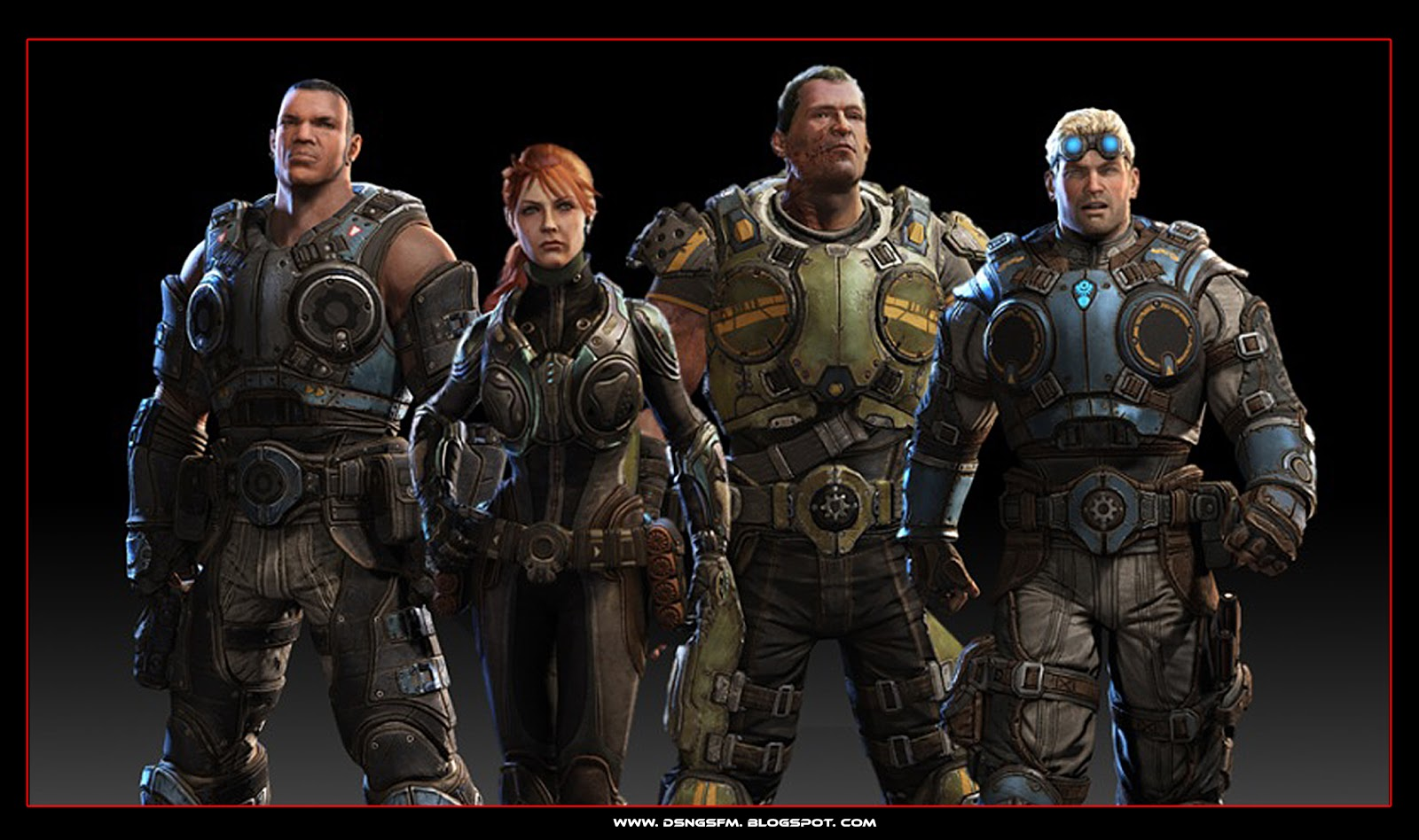 Character Design Gears Of War : Dsng s sci fi megaverse december