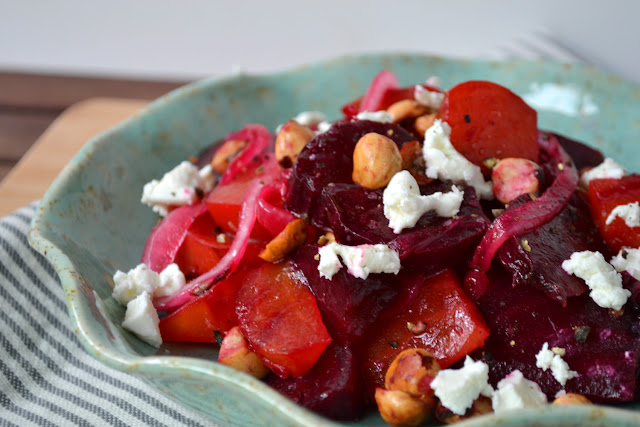 Roasted Beet Hazelnut and Goat Cheese Salad Recipe