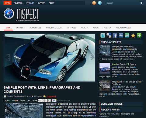 Inspect Blogger Theme