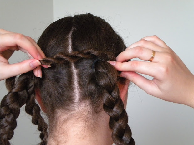 hair styles medieval double braided