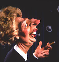 Spitting image puppet of Margaret Thatcher