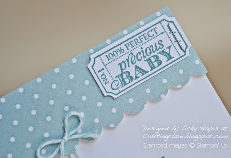 That's the Ticket stamp set and coordinating punch from Stampin' Up available online from UK stampin' Up demonstrator Vicky Hayes
