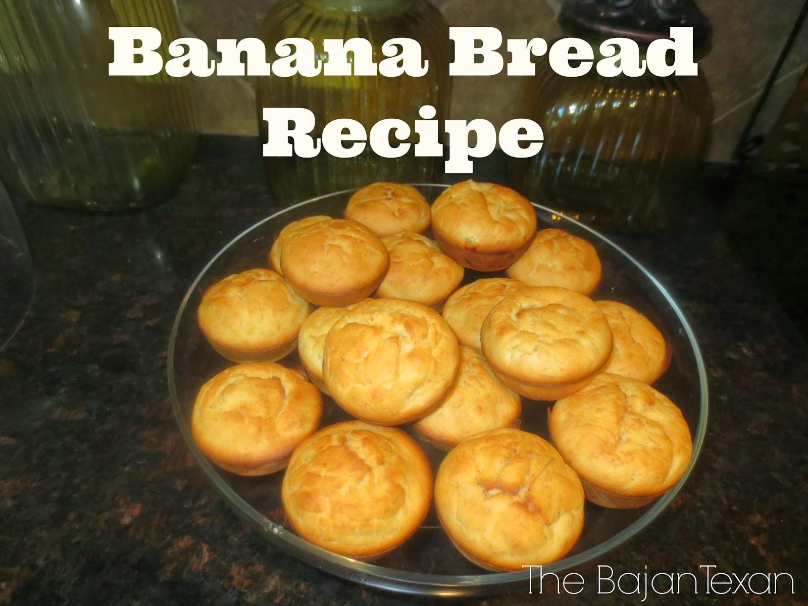 Moist banana bread recipe the bajan texan moist banana bread recipe bake some moist and yummy banana bread for the whole family forumfinder Choice Image