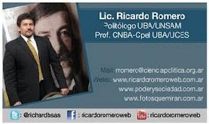 Politólogo Ricardo Romero