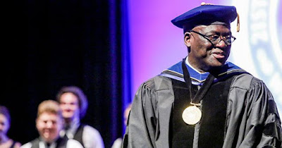 Nigerian Dr Akande 1st Black president of Westminster college St Louis.