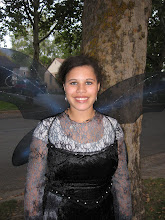 Dani at Halloween, she loves Fairies