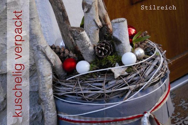 Birke co vor dem haus s t i l r e i c h blog - Weidenkranz dekorieren ...