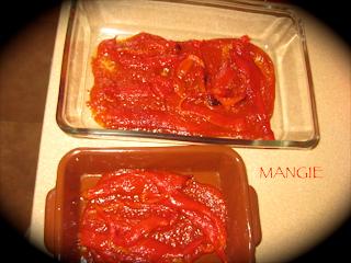Salsa de tomate y pimientos rojos asados