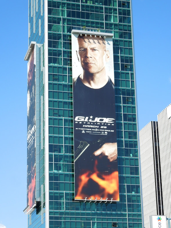 Giant GI Joe Retaliation Bruce Willis billboard