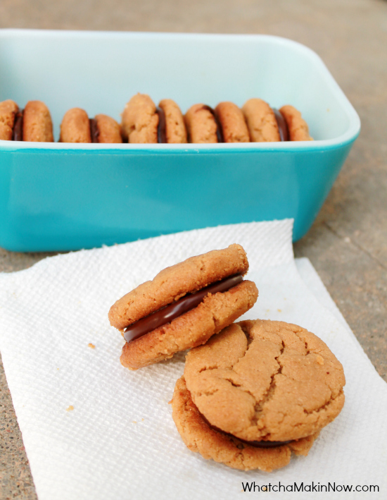 Peanut Butter and Chocolate Sandwich Cookies (only 7 ingredients)