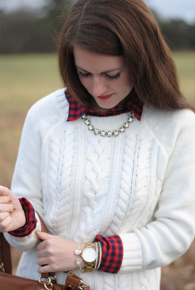 Southern Curls & Pearls: Cable Knit
