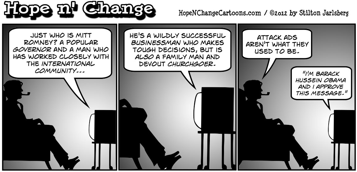Barack Obama accuses Mitt Romney of being a successful businessman and churchgoer, hopenchange, hope n' change, hope and change, stilton jarlsberg, tea party, conservative