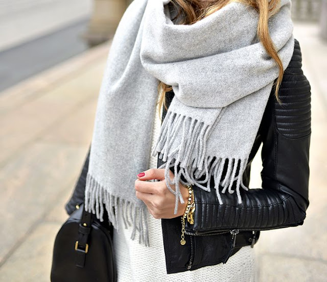 Fashion Inspiration - Must Have Grey Scarf by Cool Chic style Fashion