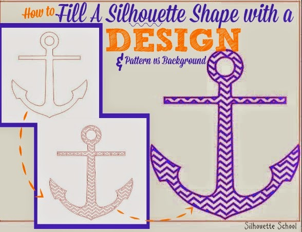 How To Fill A Silhouette Design Or Text With A Cuttable