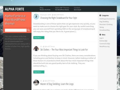 Alpha Forte WordPress Theme