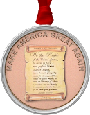 """Make America Great Again"" Metal Pendant"