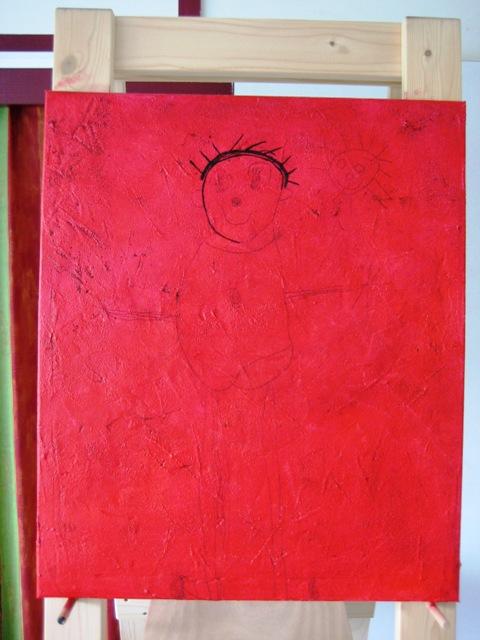 Krea d 39 ingen schilderij van een kindertekening for Carbon papier