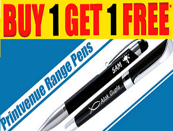 Buy Buy 1 Get 1 FREE on Personalized Engraved Pen at Rs, 175 only