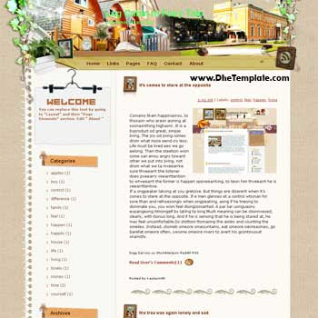 Log Cabin In Fairy Tale Blogger Template | Dhetemplate