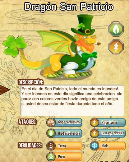 todas las estadisticas del dragon san patricio