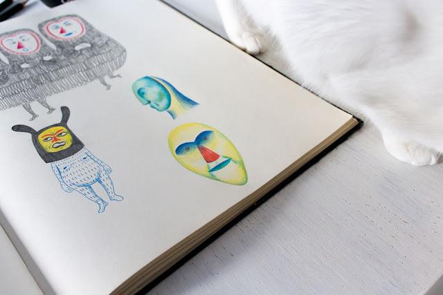 Mar Villar - Dibujos de máscaras 4