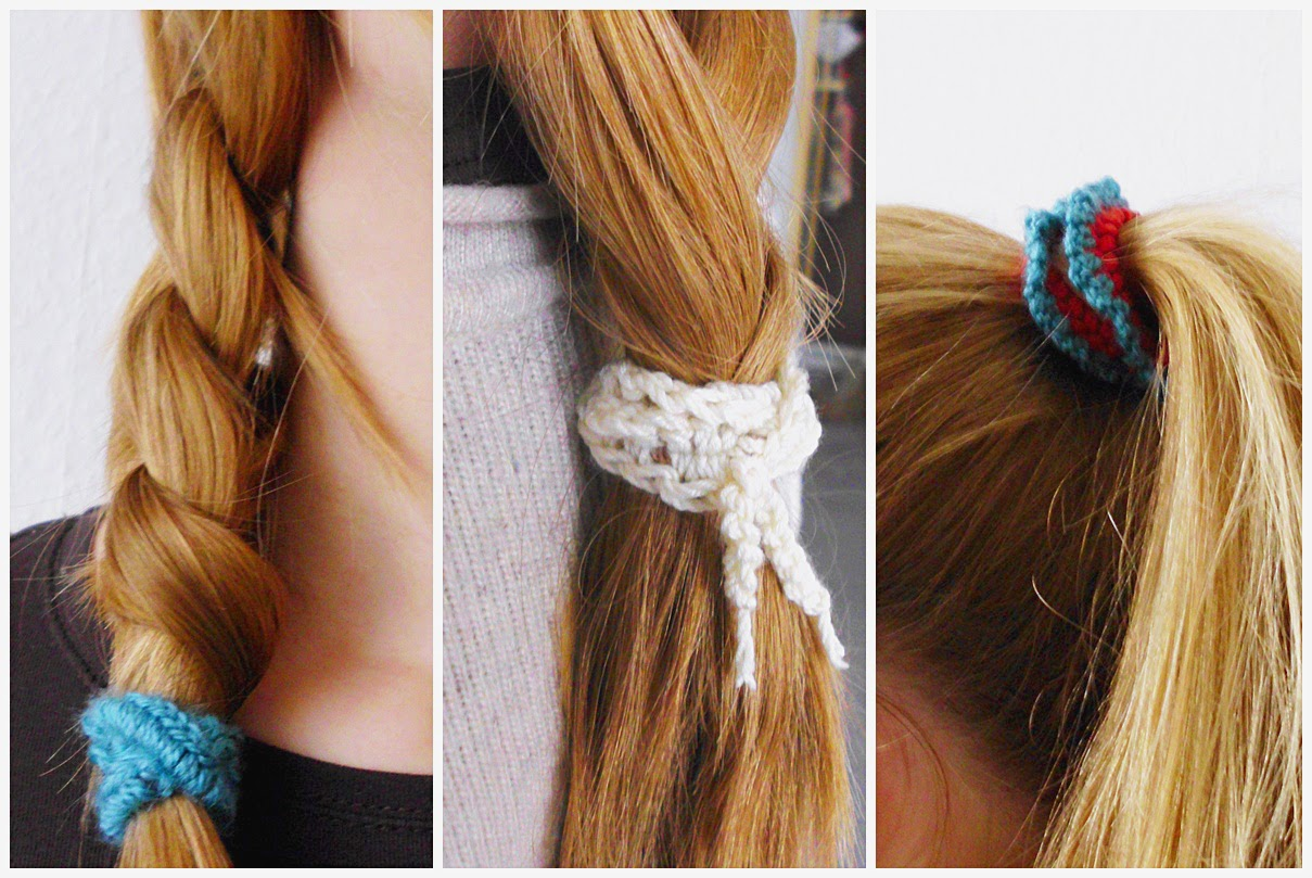Crochet Hair Ties : Curious and Catcat: DIY Crocheted Hair Ties