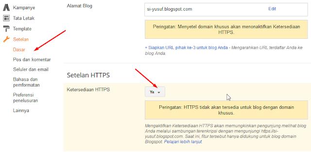 mengubah protokol blogspot menjadi https