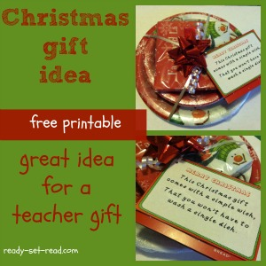 free printable, christmas crafts, gift for teachers, ready set read, image
