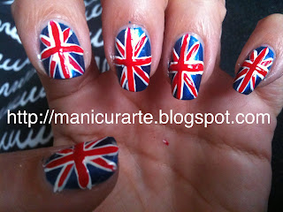 UK flag nails