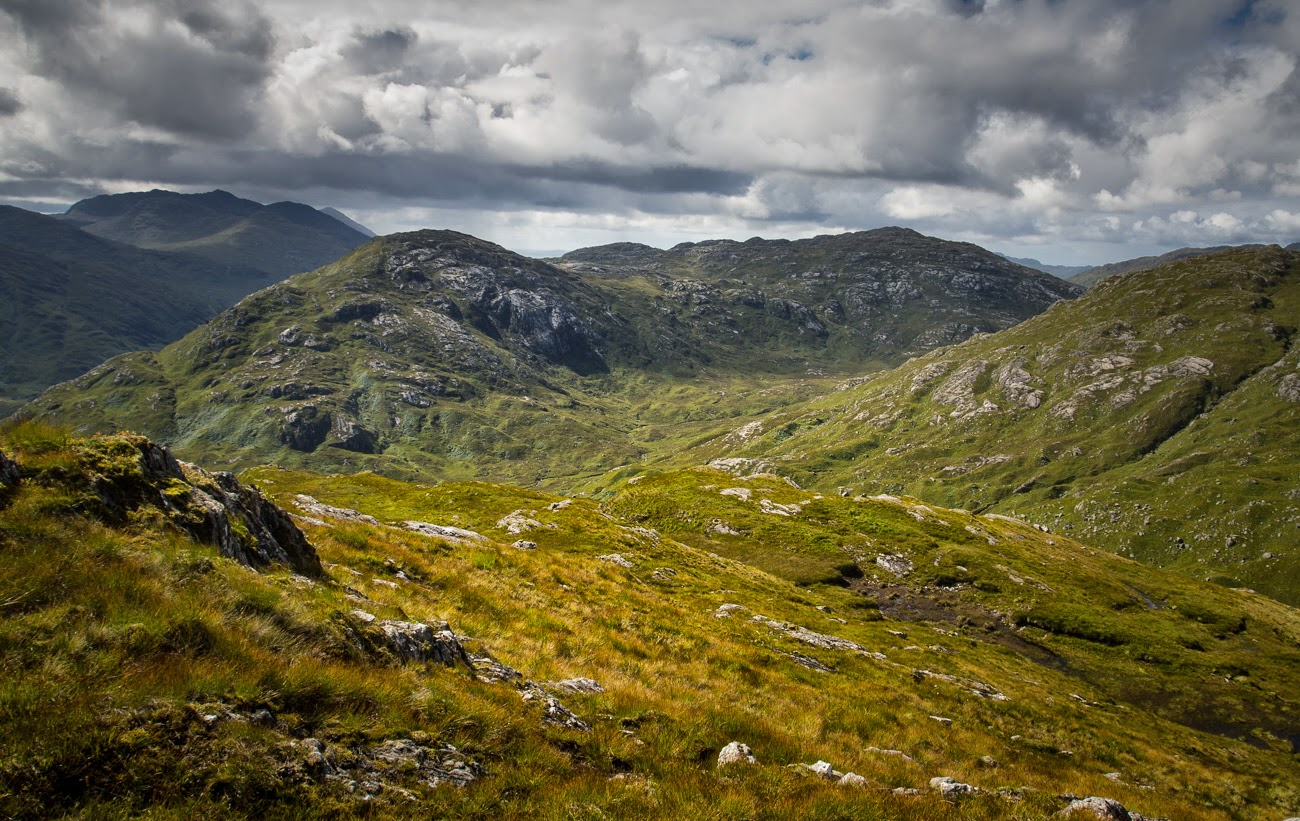 Photo of view looking south from Sgurr an Utha