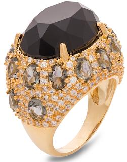 anel grande pedras semi joia