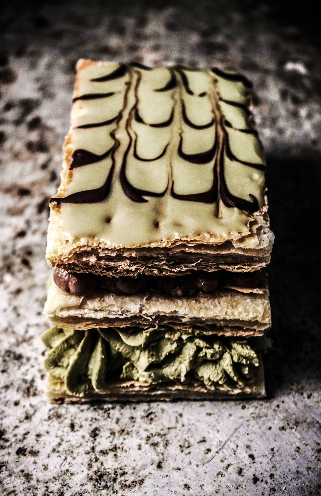 Chocolate Matcha Mille Feuille