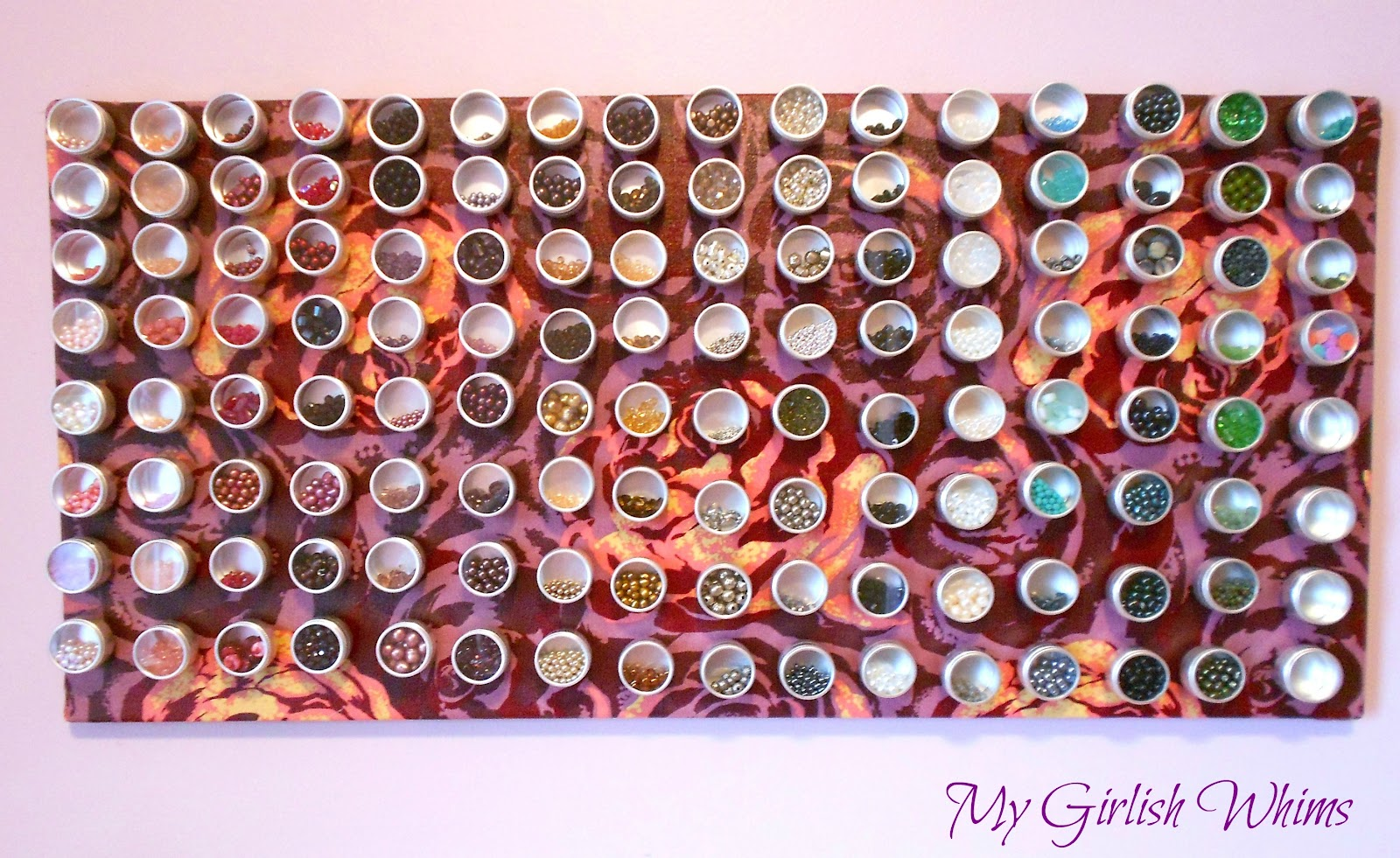 Bead organization fabric covered magnet board my girlish whims