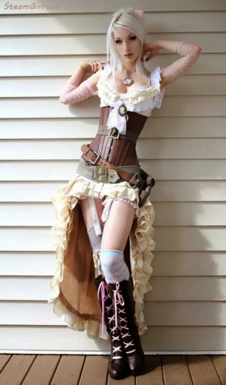 steampunk clothing dress skirt corset sexy