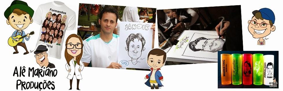 Caricaturas em Curitiba - Canecas, encomendas e ao vivo - Caricaturista Alê Mariano