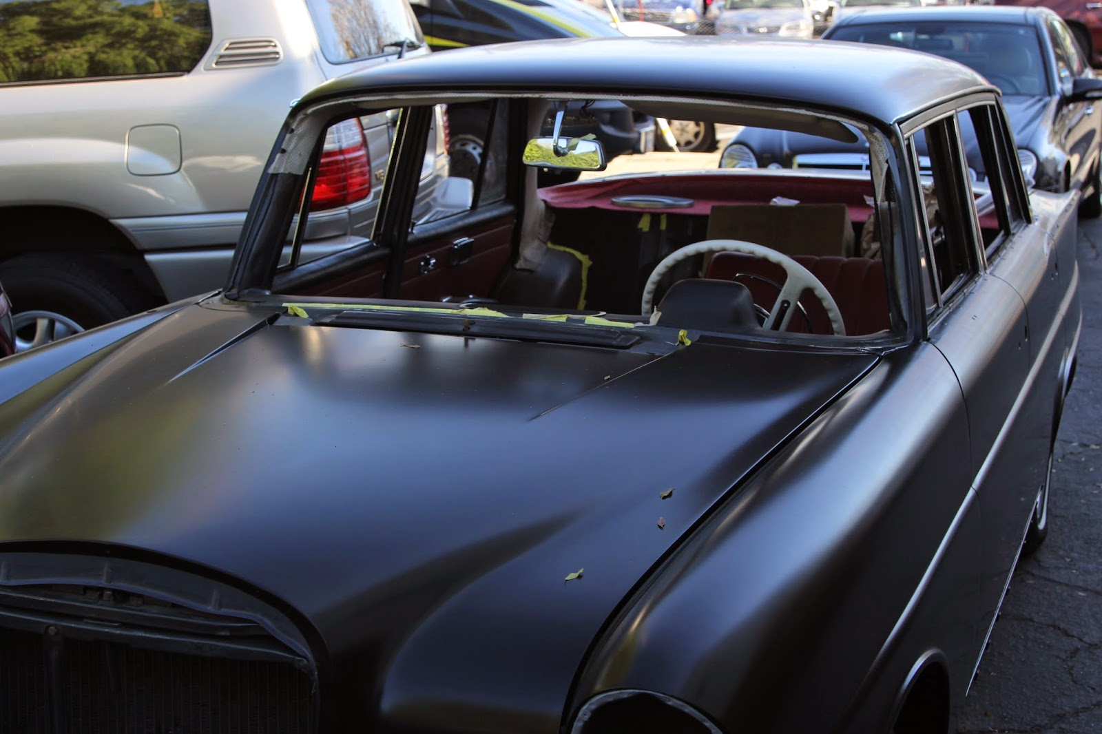 This Project We Are Restoring The Interior Of Vintage Mercedes